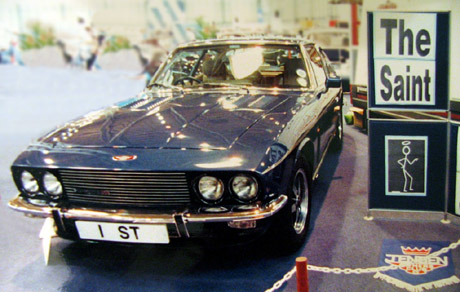 The Saint and his Jensen Interceptor at a British Car Show