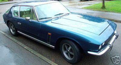 A Blue Jensen Interceptor