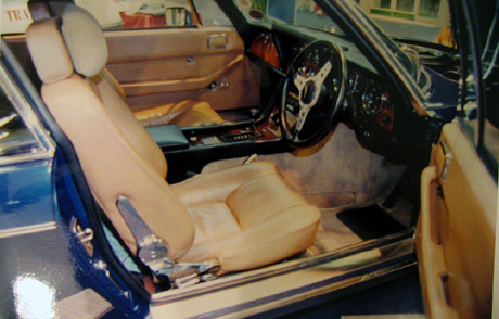Interior of The Saint's Jensen Interceptor